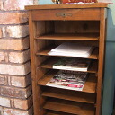 Antique filing oak cabinet