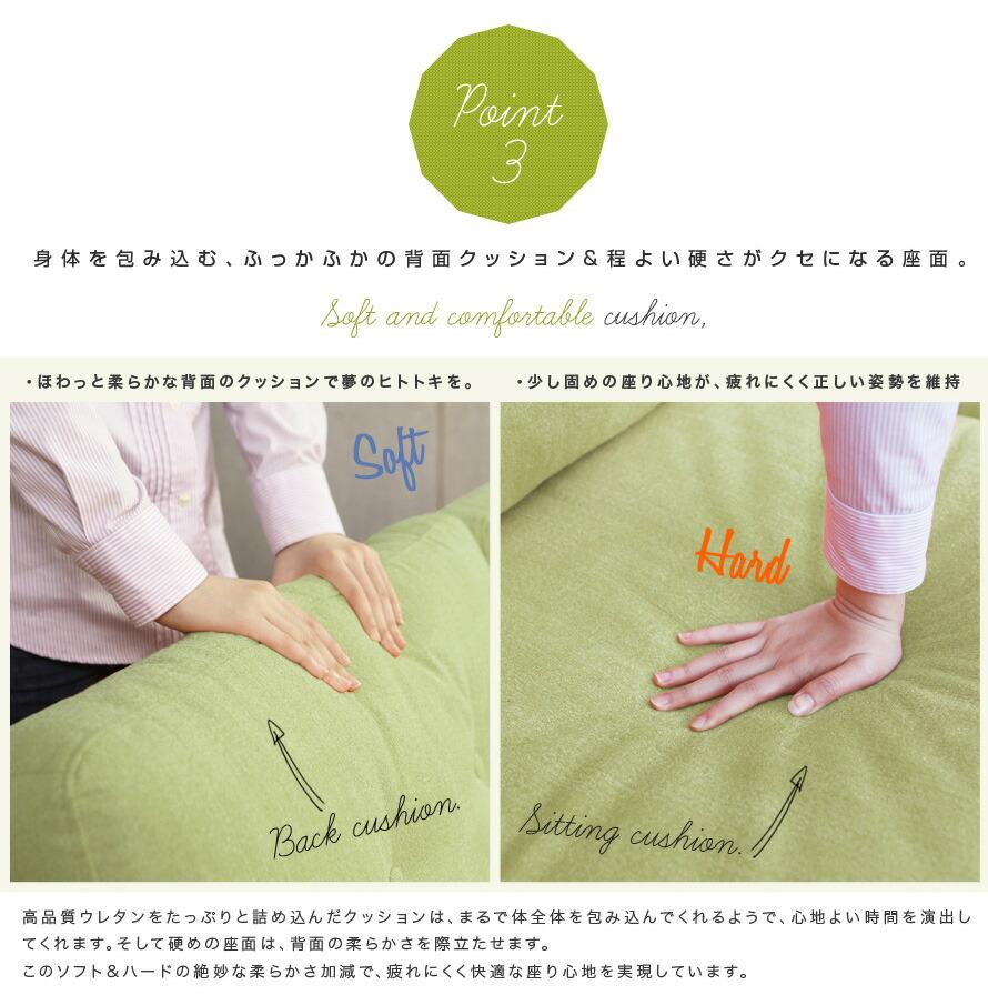 身体を包み込む、ふっかふかの背面クッション&程よい硬さが癖になる座面