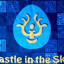 [Stajio Ghibli]Laputa: Cstle in The Sky Lap robe Blue stone