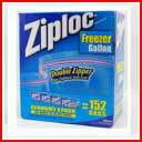 Ziploc double zipper freezer back gallon 152-upup7 fs04gm
