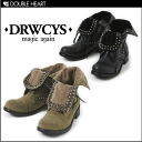 ドロシーズ cool as feminine also easy to match to the Almighty! Studded boots shoes short boots lace-up black khaki 2013 autumn winter new fs3gm.