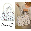 ニーナミュウキティコラボ ☆ Kitty nylon BAG HELLO KITTY Sanrio character ニーナミュー Tote shoulder bag