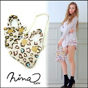 ニーナミュウ [nina mew] hey you out put or shopping in smaller 2-WAY's mast ☆ ヒョウナイロンミニ BAG ladies animal school tote bag shoulder bag [2014 spring summer new] shop