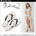 ニーナミュウ キティコラボ latest work! Swimwear and want to fit in the set! Kitty pattern flip flops | / Kitty / Sanrio | Sandals / (131-6007) fs3gm