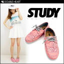 With STUDY sneaker pimp shoes 2 color ♪ BANDANNA DOCK PINK LA from sneakers brand shoes sneakers Womens | 2013 spring summer new popular | loafers deck shoes fs3gm