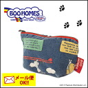 Buy homes was pleased to see a vintage like denim BOO HOMES! Cute SUPER BOO HOMES SNOOPY pouch S Snoopy bag pouch clutch wristlet brand makeup Bukavu [stock] [method]