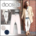 choosy chu [チュージーチュー] press Nagisa she wear ♪ ソフトデニム PT [5-end of stock] women's denim boys white ドビーデニム like to also recommend!