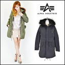 Alpha industries (ALPHAINDUSTRIES) mail-order ALP×LEE m-51 W/LINER ladies clothing military jacket mods coat liner fur m51