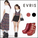 EVRIS[ エヴリス] mail order Sasaki Ayano wearing ♪ [going to be received in the end of September] bell Ted bootie Lady's wedge thickness bottom black Sasaki Ayano blog every [371431800900]