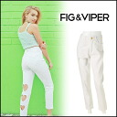 FIG &VIPER (fig andvaiper) store (book) (from the end of April we stock) HEART CUT OUT PANTS Womens denim white white pants damage crash Ueno with sand ALISA blog (05142009)