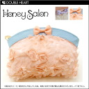 Honey Salon chiffon flower pouch ladies pouch makeup bag | Cute make Purch | race Ribbon fs3gm