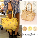 Honey salon from HONEY SALON and 2 months late we stock appointment popular ハニサロ series 2-way bag appeared ☆ フラワーガーデンショルダー shoulder bag ladies cute Tote flowers [fhb-0725]