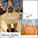 From honey Salon popular ハニサロ Hexagon silhouette is fashionable and cute 2-way bag ☆ パステルミディ shoulder bag ladies cute Tote