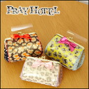 Play Hotel puffy boobs-plump cute! honey cute Leopard mouthpiece pouch pouch makeup pouch brand presents Salon