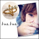 fashionable ring hinyhiny (hinahina) one in existence! Pearl cross rings ladies rings gold Yoshikawa well this blog (ITK)