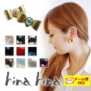 hinahina accessories Ribbon earrings earrings women's / Ribbon / stone / fs3gm