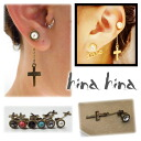 hinahina accessories CROSS Catch antique GOLD gifts perfect for!, piercings and cross-|