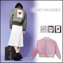 Hannymehoney (mi Honey Honey) store Tamashiro, Tina and I order! (Reservation) (Stock mid-January 11) Ma-1 blouson blouson jacket Womens shorts-length military Khaki Black clothing (15A-AN-19)