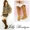 "Jolly boutique sale praised ""pretty legs"" Nehi! ファーインヒールニーハイブーツ (003-92901) | ladies / boots / long | fs3gm"
