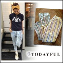 LIFE's [life] TODAYFUL [トゥデイフル] our stock from late June Stripe Gather PT striped pants Womens Yoshida Satoshi incense [11410707] # 203