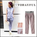 LIFE's [life] TODAYFUL [トゥデイフル] our stock from early may Check PT check pants Womens straight Yoshida Satoshi incense [11410721] # 203