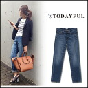 TODAYFUL (today for) LIFE's (life's) store (book) (from the end of may we stock) CHLOE's Denim women's denim jeans straight Yoshida Reika Pi # 203 (P-CHAN) blogs (11511406)