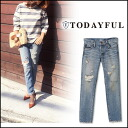 TODAYFUL (today for) LIFE's (life's) store (book) (from the end of July our shop stock) LILY's Denim women's denim jeans pants damage crash Yoshida Reika Pi # 203 (P-CHAN) blogs (11511409)