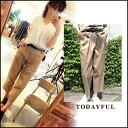 TODAYFUL (today for) LIFE's (life's) store (book) (August-early US stock) Wide Chino PT Womens pants Chino wide Gaucho Yoshida Reika Pi # 203 (P-CHAN) blogs (11520705)
