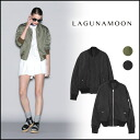 Laguna Moon (LAGUNAMOON) store (book) (stock 3 months early) reversible blouson jacket ladies short military backlog (031510100401).