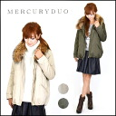 Military CT coat Lady's military coat Mods coat khaki beige rial Farve log (001430000901) belonging to Mercury Duo (MERCURYDUO) mail order fur liner (regular article)
