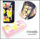 rienda (liendo) iPhone case peplum pleated iPhone6 case notebook type card case with floral flower brand popularity (genuine)
