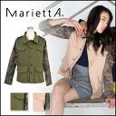 -Marietta [MariettA] catchy a handsome jacket ☆ カモフラミリタリー JK Jacket Women's Camo short sleeve length [ITK], [stock]