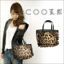 ■ bags for ■ クーラバッグ fashionable lady, Leopard print Tote! レオパードフリルトート BAG (CQ10775) |, ladies ' handbags, Leopard print | fs3gm
