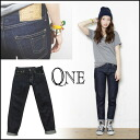 QNE (WAN) mail-order red boys denim (pre-order) (from the end of April we stock) women's denim jeans straight boy friend denim blog insta #QNE