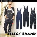 "Like ""DOUBLE HEART select"" denim through good design! ニコレディースサロ pets women's denim overalls overalls all-in-one agricultural ギャル smile-Chan smile fs3gm"