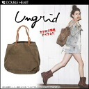 ungrid-MOOK this catalogue! Azu Chan wear ♪ レザーコンビキャンバストート BAG bag bag tote bag canvas women's (111311060002) fs3gm