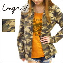 ungrid [アングリッド] Vintage Thrift Shop our stock from the beginning of March and jacket! カモフラスタッズ JK jacket Womens camouflage pattern military spring summer new [111410125501].
