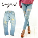 ungrid [アングリッド] denim everytime popular denim series ♪ we stock from the beginning of March ライトブルーサルエル denim denim women's damaged denim crash vintage [11141140601]