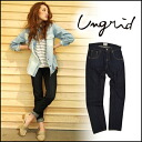 ungrid [アングリッド] azunyan Chan wear ♪ simple non wash denim! Our stock from the beginning of may セルビッチワンウォッシュ denim denim pants women's jeans [111420750401]