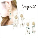 ungrid[ Ann grid] shell motif pearl drop pierced earrings Lady's accessories gold turquoise pearl mail order blog [111420904601]