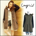 ungrid[ Ann grid] mail order [from the beginning of October our store arrival planned ]MIX military coat Lady's long length Mods rial fur raccoon blog [111430014701]]