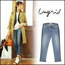 ungrid (angled) store (book) (our stock early February) sideline cropped Stosur denim Womens jeans jeans straight 高園 Azusa blog (111511400901)