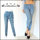 [goa] women's orders our shop stock from the beginning of March カットデニム × choppers denim women's harem pants its easy pants (31415087)