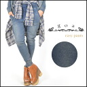 [goa] Such as the lady's mail order denim wear; a sweat shirt excellent at a feeling! Indigo fleece pile easy underwear sweat shirt underwear Lady's sarouel pants [31445094]