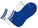 육상 2 켤레 조 린 킹 양말 (미끄럼 방지 첨부) XTS111 0145 화이트 × 블루