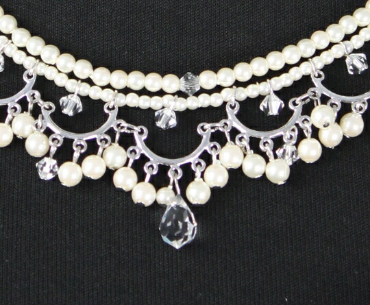 「結婚式・二次会に♪編みこみデザインが華やかなネックレス」の商品写真
