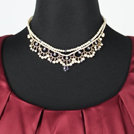 「ドレープデザインが上品なネックレス(0392-07-484)」の商品写真