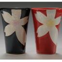 Back in stock! Rikyu kiln flowers beauty ペアゴブレット