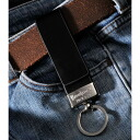 Excellent case present leather style belt key ring