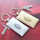 Excellent case present shiny key ring BIG initial charm set